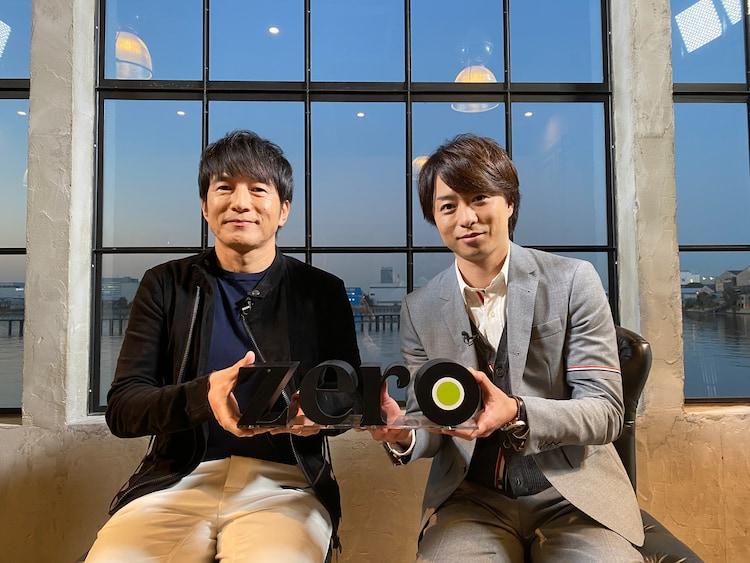 左から桜井和寿(Mr.Children)、櫻井翔(嵐)。 (c)日本テレビ
