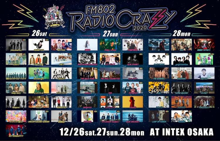 「FM802 RADIO CRAZY 2020」追加ラインナップ