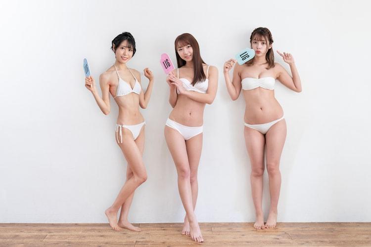 左から隈本茉莉奈(虹のコンキスタドール)、塩川莉世(転校少女*)、ぴあの。