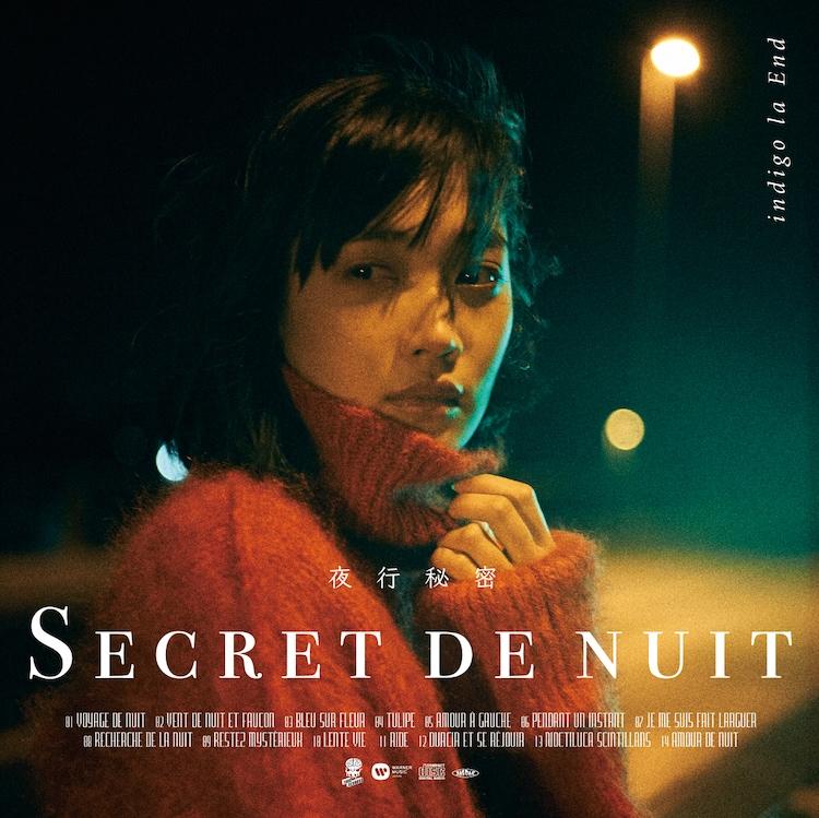 indigo la End「夜行秘密」通常盤およびアナログ盤のジャケット。