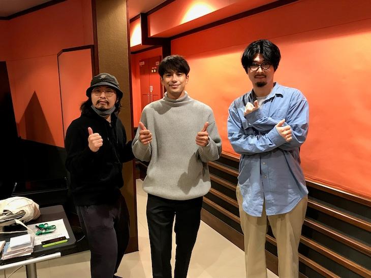 左から寺尾ブッタ、森崎ウィン、菅原慎一。(写真提供:NHK)