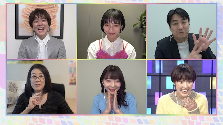 左上から時計回りにヒャダイン、山之内すず、佐久間宣行、近江友里恵、辻愛沙子、野木亜紀子。(写真提供:NHK)