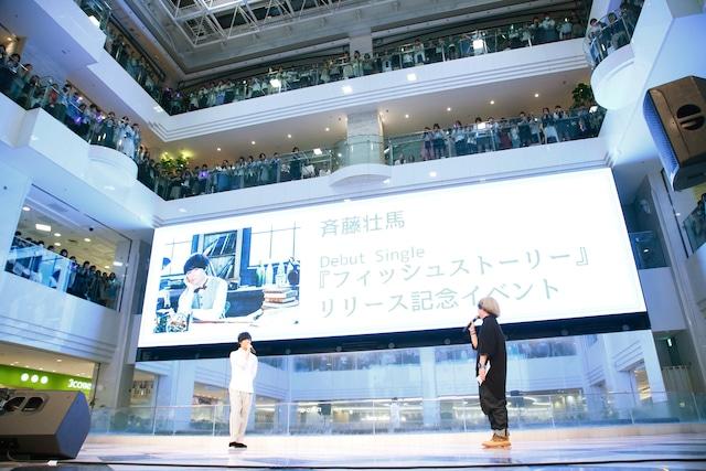 デビューシングル「フィッシュストーリー」リリース記念イベントの様子。(Photo by yoshiaki nakamura)