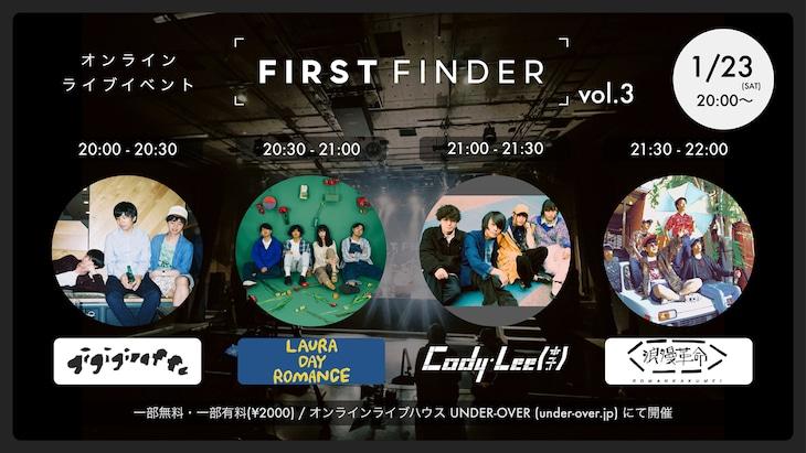 「FIRST FINDER vol.3」告知ビジュアル