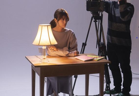 Super Break Dawn「桜の樹の下で」ミュージックビデオの撮影風景。