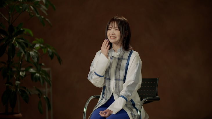 """「TALK SESSION about """"WHO?""""」より吉岡聖恵(Vo)。"""