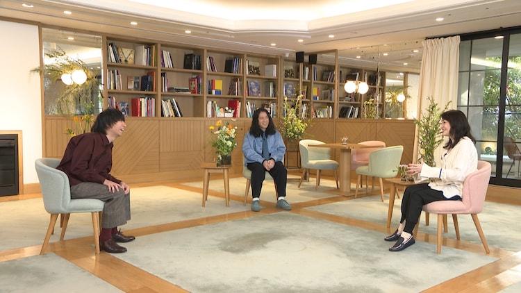 左から尾崎世界観(クリープハイプ)、又吉直樹(ピース)、村田沙耶香。(c)フジテレビ