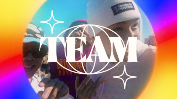 LEX、Only U、Yung sticky wom「TEAM」ミュージックビデオより。