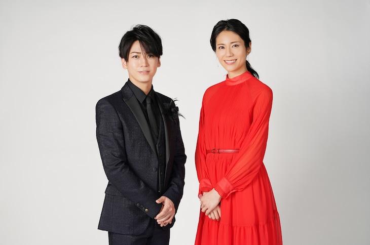左から亀梨和也(KAT-TUN)、松下奈緒。 (c)日本テレビ