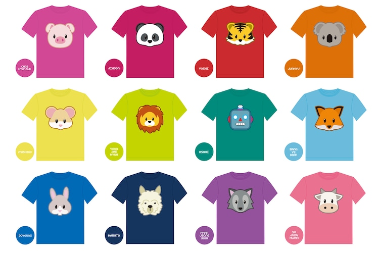 オリジナルあつ森マイデザインTシャツの一覧。