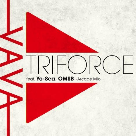 VaVa「Triforce feat. Yo-Sea, OMSB -Arcade Mix-」配信ジャケット