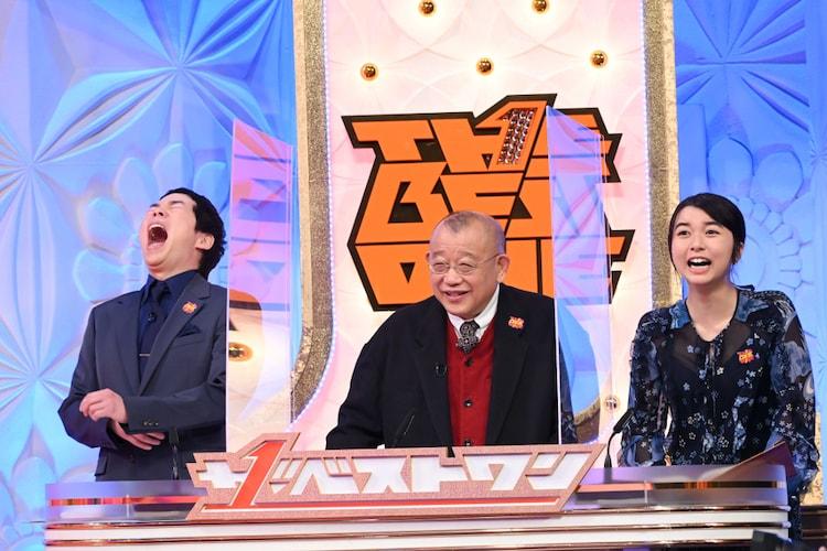 左から今田耕司、笑福亭鶴瓶、上白石萌歌。(c)TBS