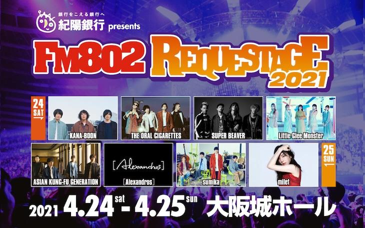 「FM802 SPECIAL LIVE 紀陽銀行 presents REQUESTAGE 2021」告知ビジュアル