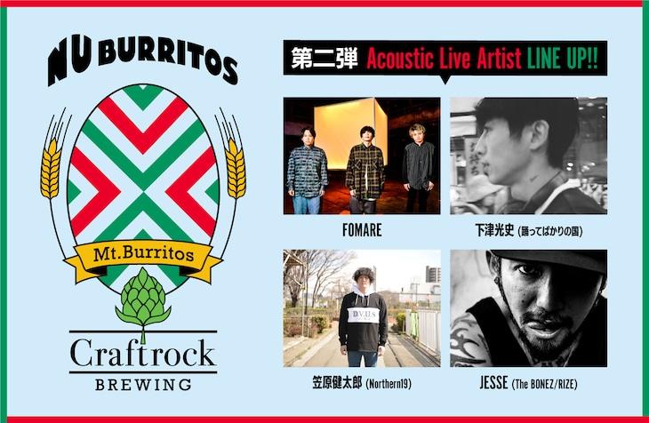 「Mt.Burritos」出演アーティスト第2弾告知ビジュアル