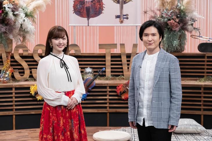 左から鈴木愛理、清塚信也。(写真提供:NHK)