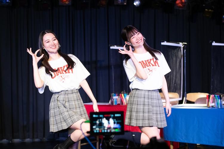 青春高校3年C組の前川歌音と齋藤有紗。