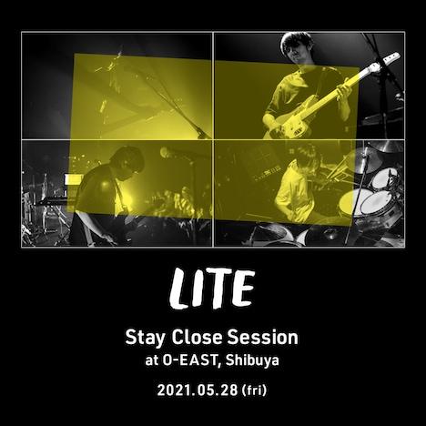 LITE「Stay Close Session」告知ビジュアル