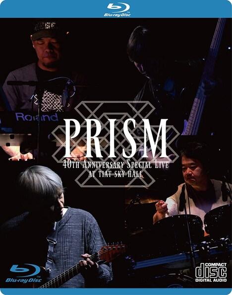 2018年5月に発売されたPRISMのライブBlu-ray「PRISM 40th Anniversary Special Live at TIAT SKY HALL」ジャケット