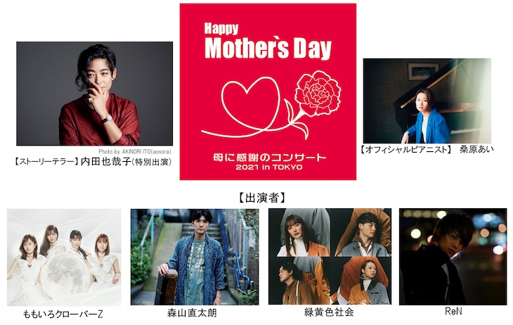 「Happy Mother's Day!~母に感謝のコンサート2021 in TOKYO~」出演者