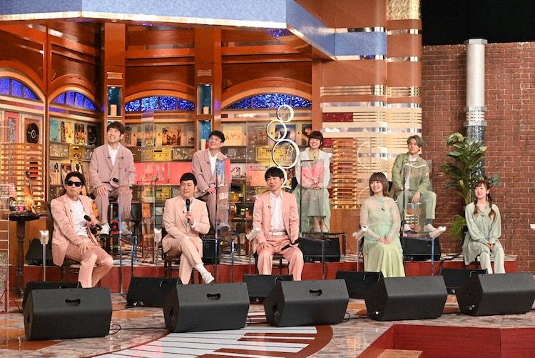 ゴスペラーズとNagie Lane。 (c)テレビ朝日