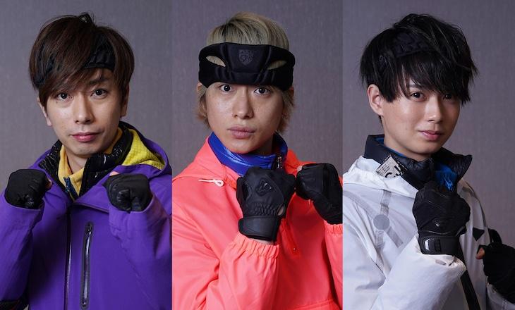 左から河合郁人(A.B.C-Z)、戸塚祥太(A.B.C-Z)、井上瑞稀(HiHi Jets, ジャニーズJr.)。(c)フジテレビ