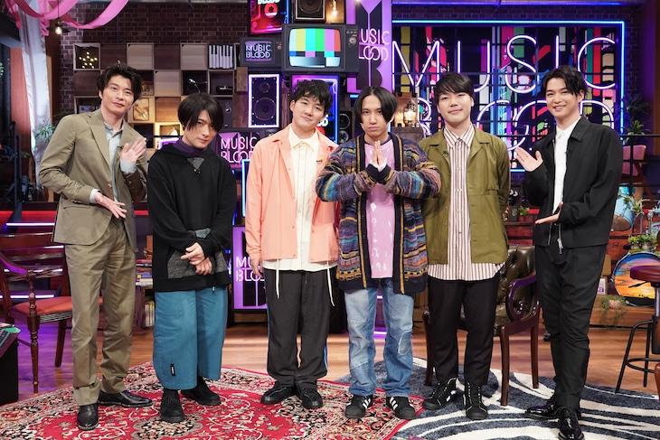 左から田中圭、マカロニえんぴつ、千葉雄大。(c)日本テレビ