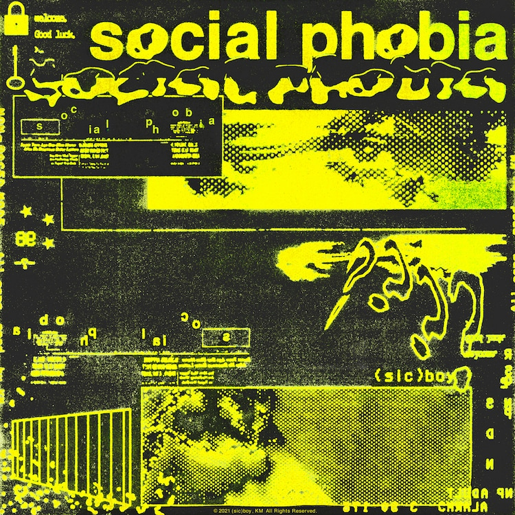 (sic)boy「social phobia」配信ジャケット