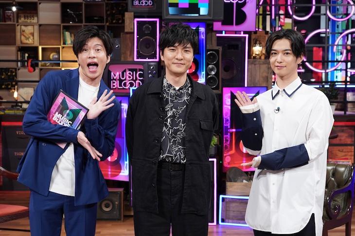 左から田中圭、森山直太朗、千葉雄大。(c)日本テレビ