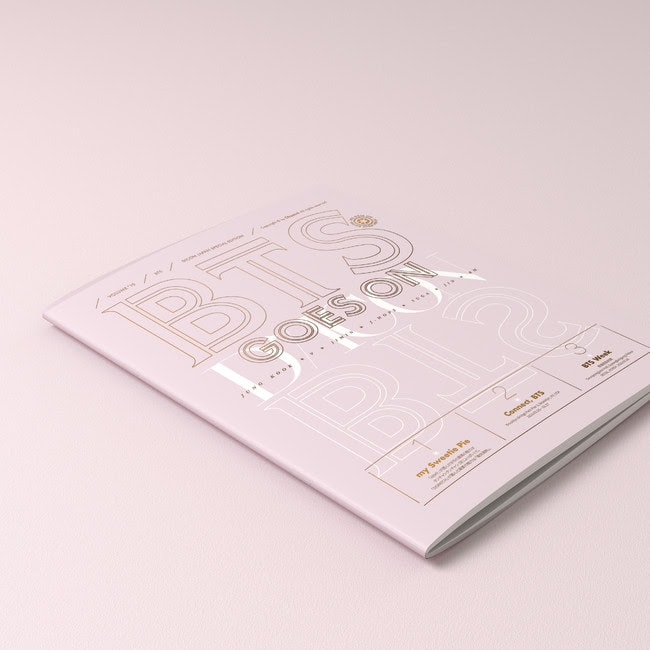 「BTS goes on!」JAPAN SPECIAL EDITION特典のSPECIAL 2nd BOOK。