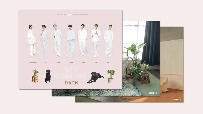 「BTS goes on!」JAPAN SPECIAL EDITION特典の3Dポップアップステッカー。