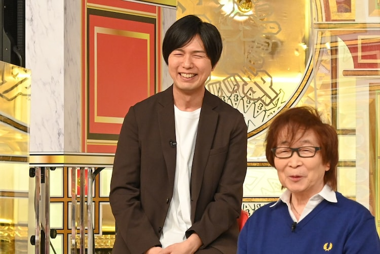 奥から神谷浩史、古川登志夫。(c)TBS