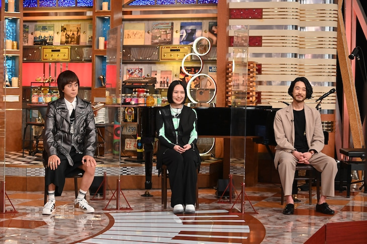 左からヒャダイン、AAAMYYY、大橋トリオ。(c)テレビ朝日