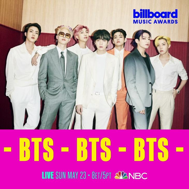 BTS「2021ビルボード・ミュージック・アワード」出演決定時に発表されたビジュアル。(c)Billboard Music Awards SNS