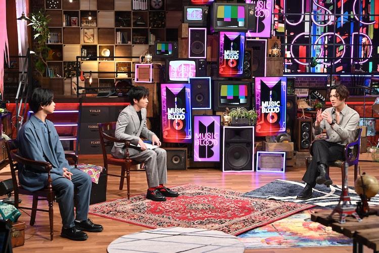左から千葉雄大、田中圭、OMI。(c)日本テレビ