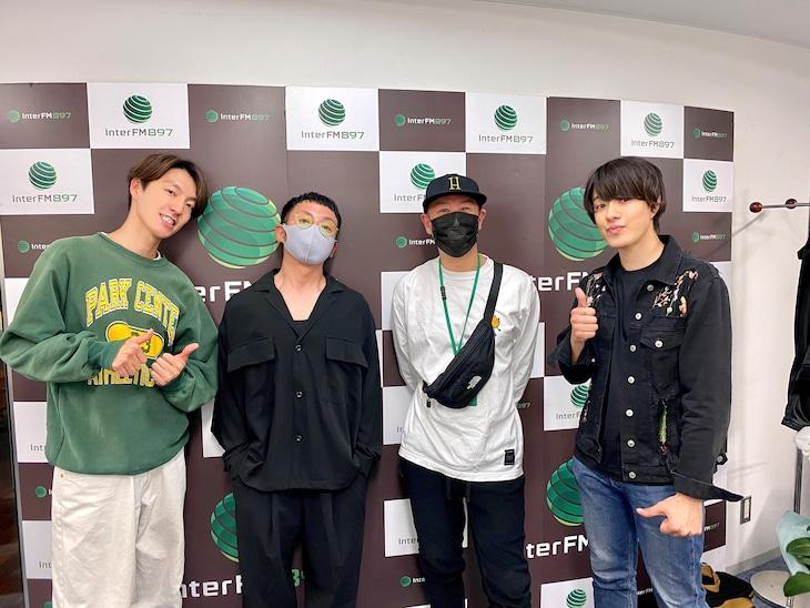 左から森田美勇人、PES、NON、真田佑馬。