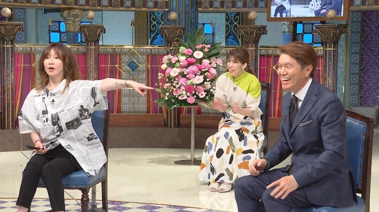 左からYOU、吉田沙保里、ヒロミ。(c)日本テレビ