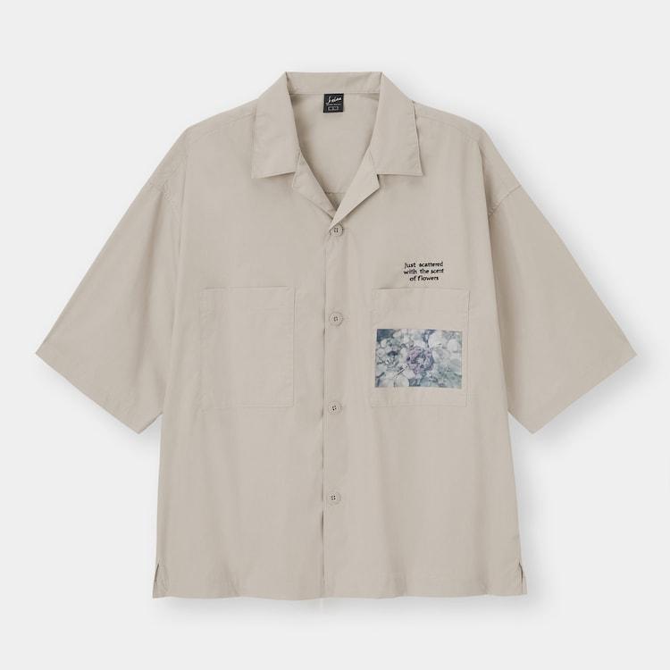 ジーユー 須田景凪コラボレーションコレクション オープンカラーシャツ