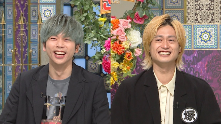 左から増田貴久(NEWS)、塚田僚一。(c)日本テレビ