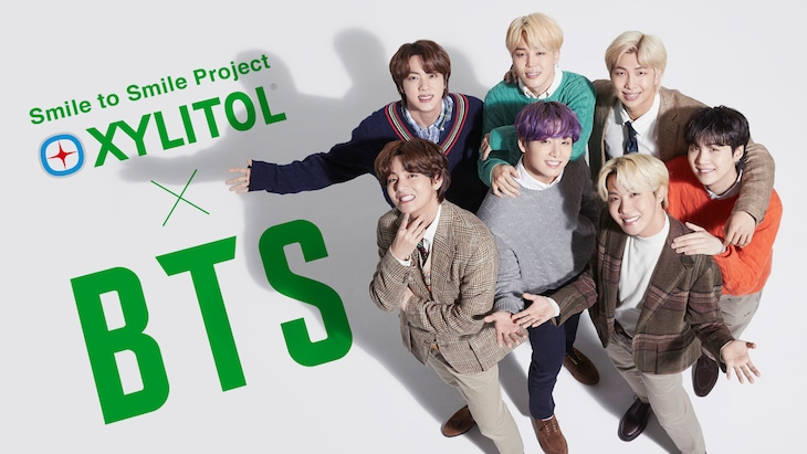 BTSを起用した「Smile to Smile Project」ビジュアル。(c)2021 BIGHIT MUSIC / HYBE. All Rights Reserved.