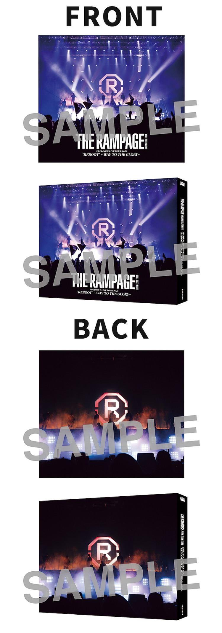 THE RAMPAGE from EXILE TRIBE「HEATWAVE」CD+DVDのEXILE TRIBE FAMILY OFFICIAL CD・DVD SHOP、LDH official mobile CD/DVD SHOP購入者特典ライブフォトスリーブケースのデザイン。