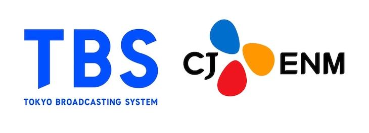 左からTBS、CJ ENMロゴ。