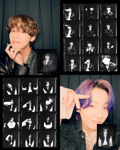 """BTS「Butter」コンテンツ""""Photo Booth""""V Ver.、JUNG KOOK Ver.。"""