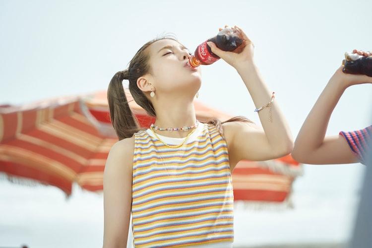 コカ・コーラ新CM「この瞬間が、私。」Summer編撮影時の様子。