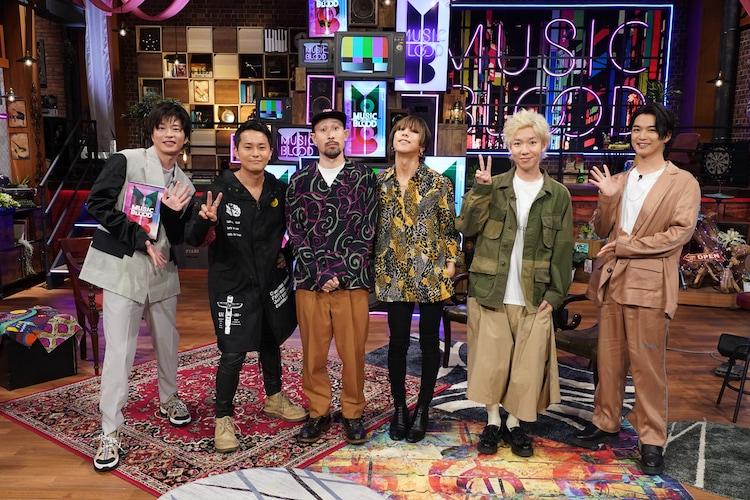 左から田中圭、SUPER BEAVER、千葉雄大。(c)日本テレビ