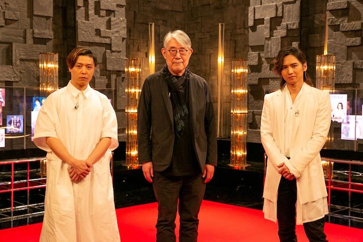 松本隆(中央)とKinKi Kids。(写真提供:NHK)