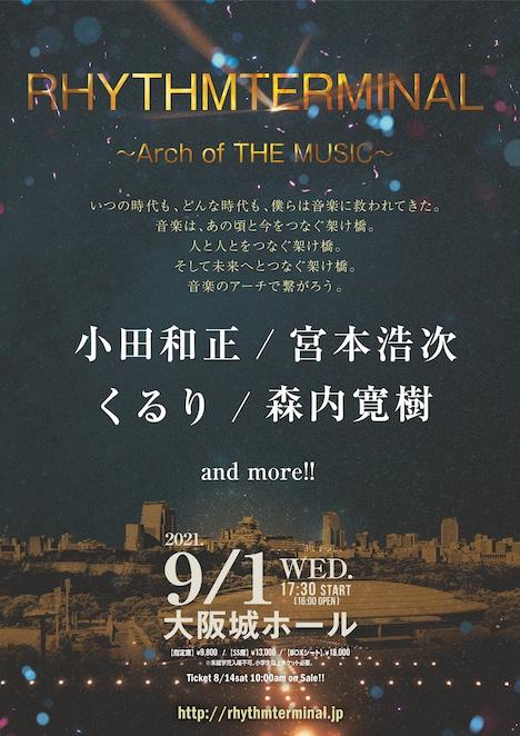 「RHYTHMTERMINAL ~Arch of THE MUSIC~」キービジュアル