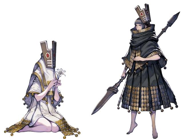 左からフィーア、仮面の王。