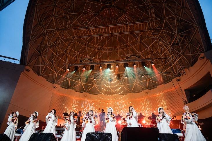 私立恵比寿中学「エビ中 秋声と螻蛄と音楽の輝き 題して『ちゅうおん』2021」初日公演の様子。