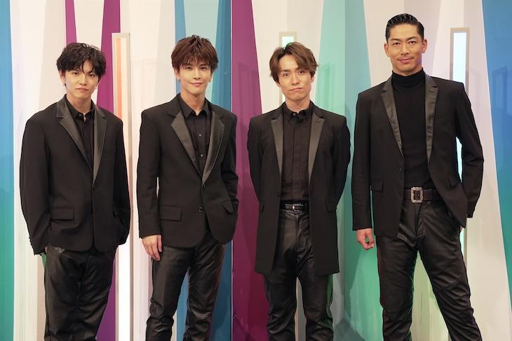 左から佐藤大樹、岩田剛典、EXILE TETSUYA、EXILE AKIRA。