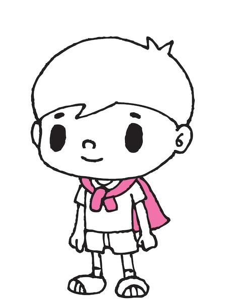 ろーたーくんは業界に憧れる小学生。得意技はタク券だ。 (c)DEVILROBOTS/夙川アトム/ぴあ